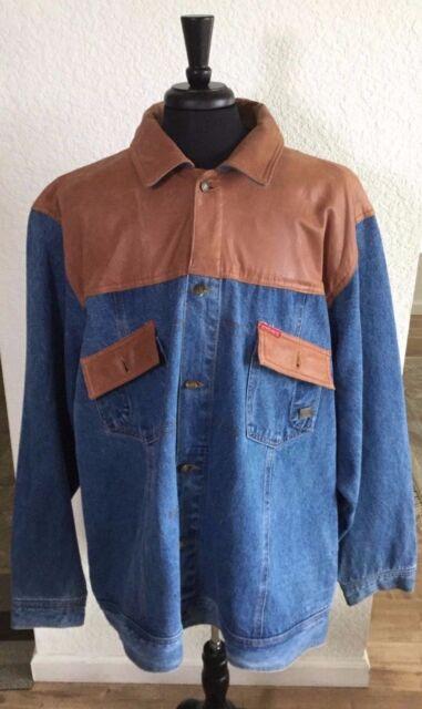 NWOT Ecko Unltd 1972 Leather Jean Jacket 3XL Leather Collection | A123