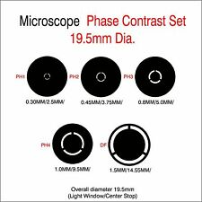 Microscope Phase Contrast Rings 19.5mm Diameter