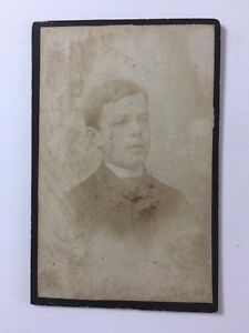 Image Is Loading Victorian Carte De Visite CDV Photo Young Man
