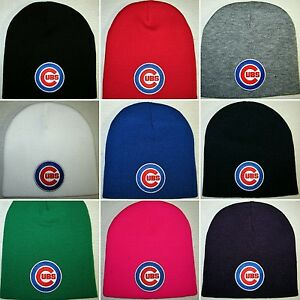 d3f15e50cf6a7 Chicago Cubs Beanie ~SKULL CAP ~HAT ~PRIMARY MLB PATCH LOGO ~11 Cool ...