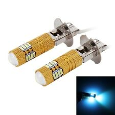 2 PCS H3 7.5W Gold Shell Car Fog Light with 16 SMD-4014 LEDs and 1 COB LED, DC 1