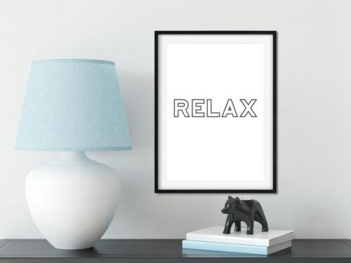 Motivational Poster Kitchen Wall Quotes Relax Scandinavian Circle