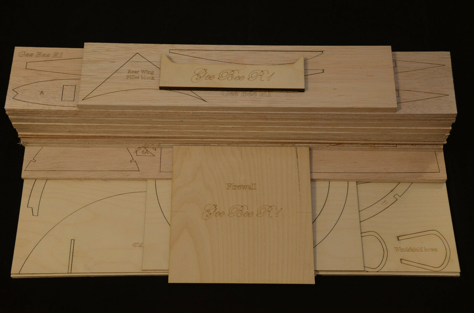 Giant 1 4 Scale GEE BEE R1 Super Sportster Laser Cut Short Kit & Plans 75 in. WS