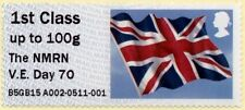 VE DAY 70th anniversary 8th May2015 Post & Go NMRN Union flag stamp mnh 1stclass