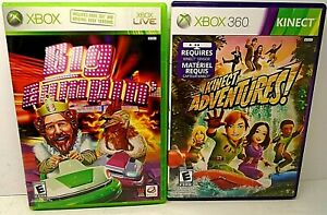 Lot 2 Complete XBOX 360 Games Big Bumpin' - Very Good & Kinect Adventures - Mint
