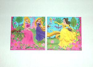 Prinzessinnen-Rapunzel-Wand-Bilder-Wand-Deko-034-2er-Set-034-Disney-Geschenkidee