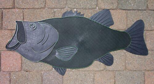 BLACK Bassmaster Largemouth Bass Doormat Fresh Sweet Water Lunker Fish Door Mat