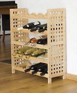 Meuble Bois Support Cave Porte Bouteilles Vin Deco Casier Cuisine