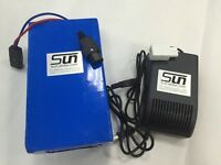 36V 20AH LiFePO4 Batteries Pack BMS 5A Charger Rechargeable Powerful E Bike UPS