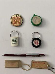 Auto, Oil, Gas, Tire  Advertising  Pen, Pin, Key Chain -Mendon, Alma, Comstock