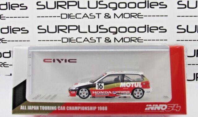 INNO64 1:64 HONDA CIVIC EF3 Gr.A #16 Mugen Motul - JTC 1988 All Japan Tour Car