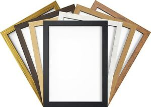 Photo Picture Poster Frame Black White Oak Gold Brown Beige A1 A2