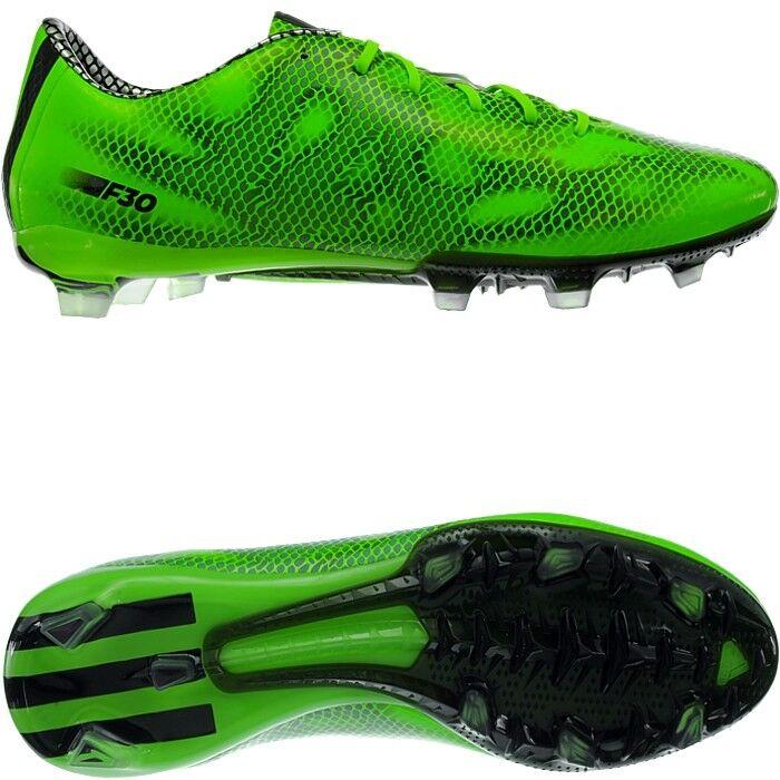 Adidas F30 TRX FG para Hombre botas De Fútbol verde Negro Plata Fg-Tacos Nuevo