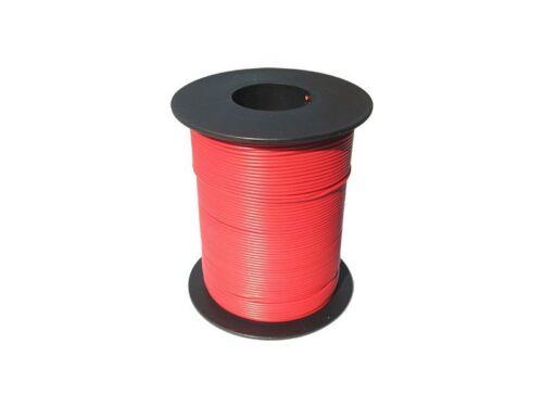 100 M lib Cavo trefolo ROSSO 0,14 mm² flessibile trefolo in rame quadro trefolo 0,09 €//m