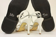 "Wedding Accessory Bridal and Groom Shoes Sticker Wedding Decal""I Do & Me Too""Set"