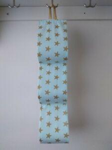 Grands Rouleaux De Papier Toilette Titulaire Vert Menthe. Étoiles Dorées Tissu 1 - 4 Rouleaux Handmade-afficher Le Titre D'origine