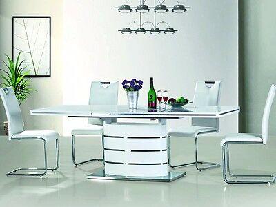 Vetrostyle Design Esstisch FANO, hochglanz weiss 160(220)cm x 90cm