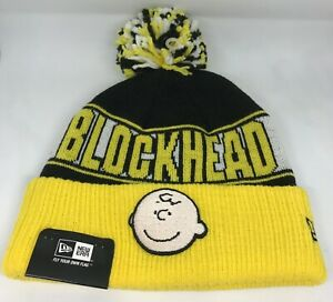 New Era Charlie Brown Blockhead Toque Winter Hat Pom Pom Yellow ... 0d2df19c404b
