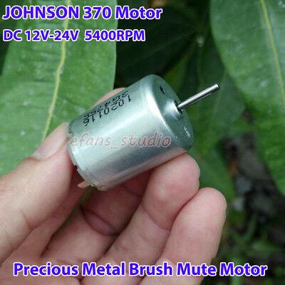 JOHNSON 370 Mute Motor DC12V~24V 5400RPM Precious Metal Brush Motor DIY Car Toy