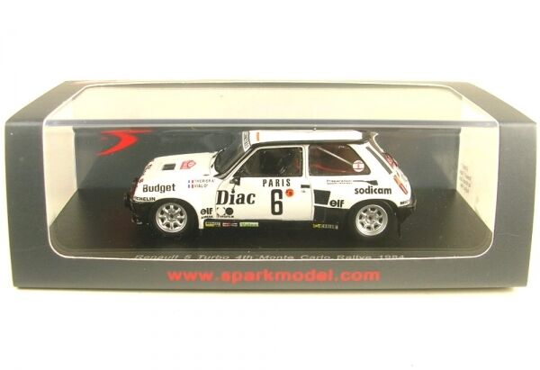Renault 5 turbo no. 6 4th rally monte carlo 1984 (J. - L. therier-M. flacon)