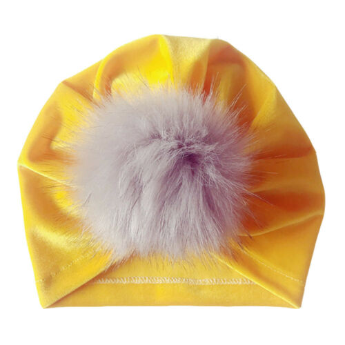 New Toddler Girls Boys Baby Bandana Turban Cotton Beanie Hat  Winter Cap DE