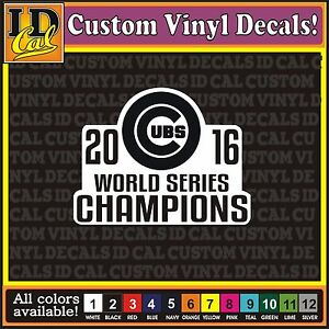 CHICAGO CUBS WORLD SERIES Baseball MLB Car Window Truck Vinyl - Custom vinyl stickers chicago