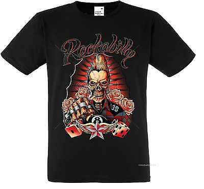 T Shirt schwarz Gothik Greaser Rockebilly&Tattoomotiv Modell Rockabilly