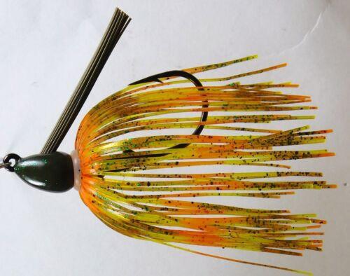 Bob4Bass Bullet Jig Skirted Pumpkin Seed US011