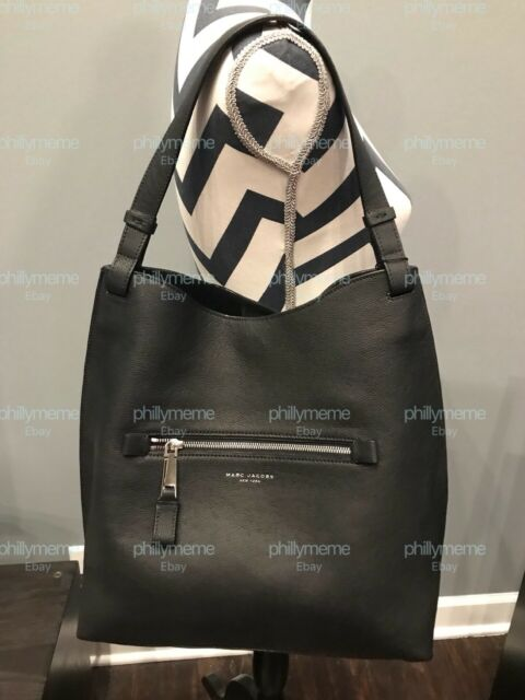 Nwt Marc Jacobs Large Waverly Leather Hobo Shoulder Bag Black Silver Dust