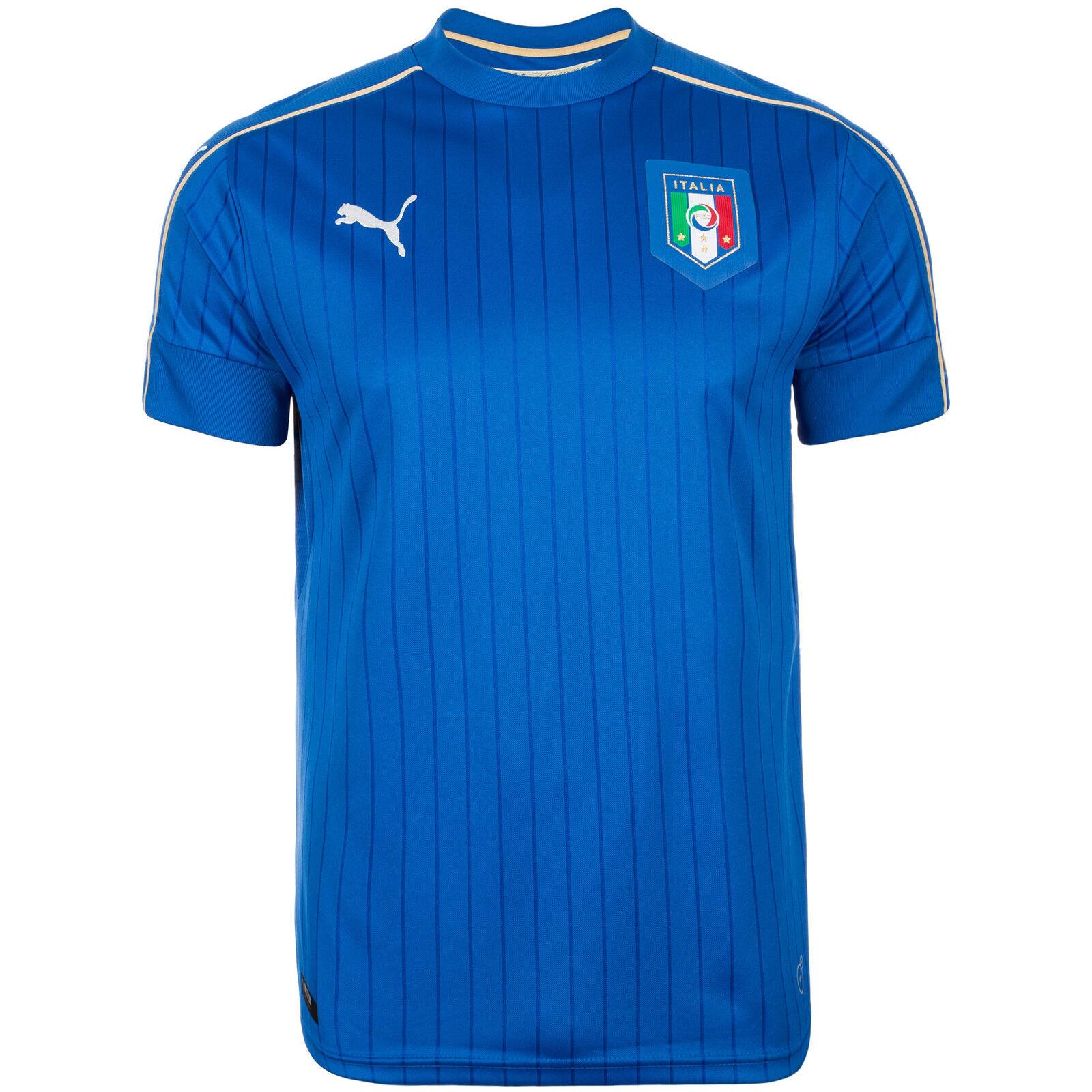 Puma Italien Italien Italien Trikot Home EM 2016 Herren blau   weiß NEU 31523a