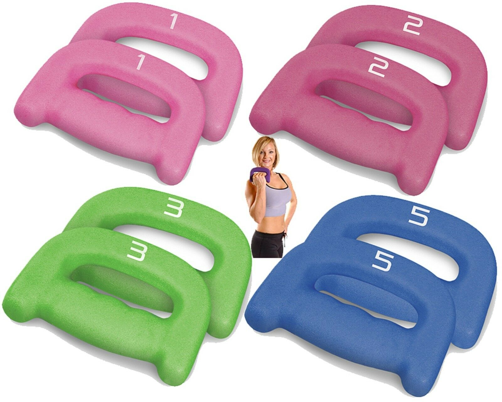 Neoprene Double D Shape Dumbbell Donna Yoga Weight Workout Train