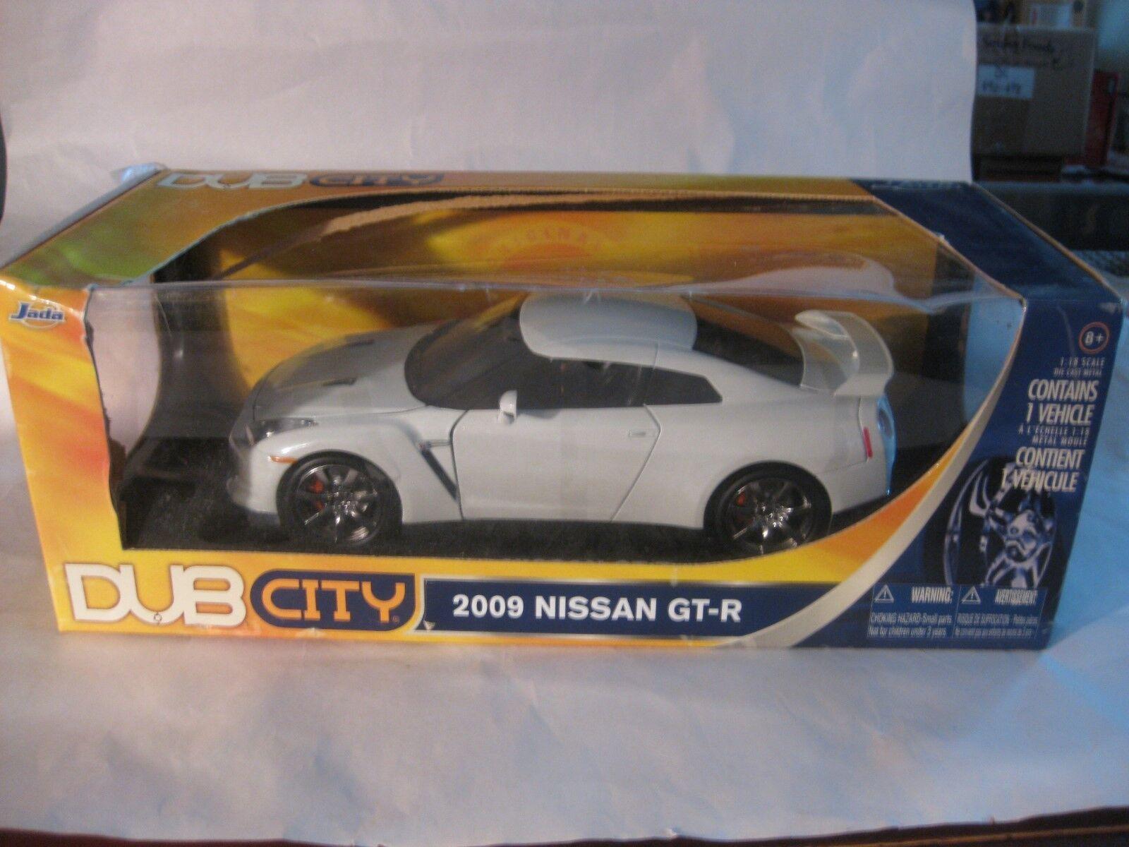 Dub City 2009 Nisson Gt-R dans un Blanc 118 à L'Échelle Miniature de Jada
