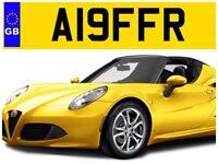 A19 FFR ALF R ALFA ROMEO GIULIETTA GIULIA GTV T SPARK CAR PRIVATE NUMBER PLATE!