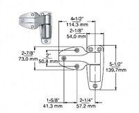 Kason 1246 Series Cam-lift Hinge, Nsf