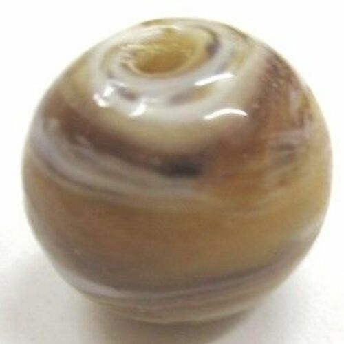 A4557 10 Pcs 12mm Lampwork Glass Round Beads Brown