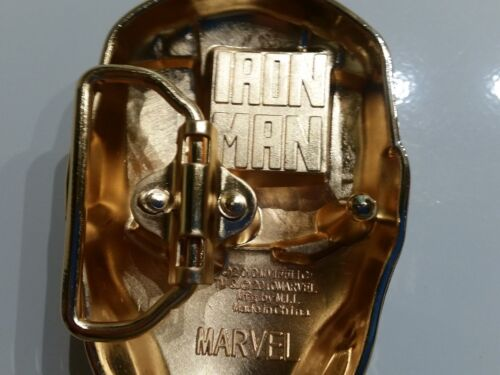IRON MAN Belt Buckle Full metal HQ NEW cosplay or just wear : US Seller Awesome