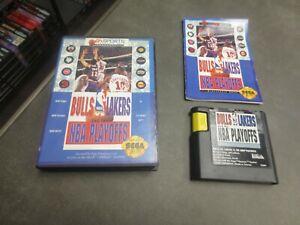 Bulls vs. Lakers and the NBA Playoffs (Sega Genesis, 1991)  Complete in Box -CIB