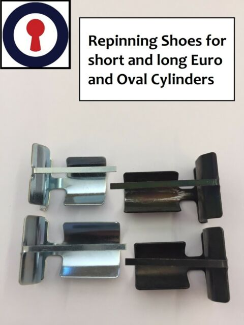 Locksmith Equipment re-pinning shoes for 5 /& 6 pin Euro//Oval cylinders 1st P/&P
