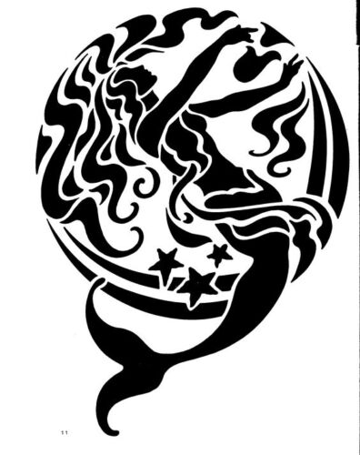 A4 A5 A3***NEW*** Mermaid Circle 190 micron Mylar Stencil  sturdy