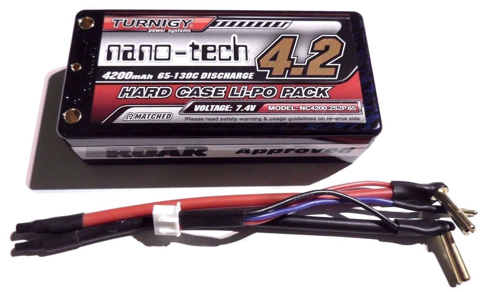 Turnigy Nano-Tech 4200mAh 2s 7.4v 65c 130c Shorty LiPo - Free Deans HPI EC3