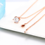 Femmes Simple 9 mm Lab-Created Cristal Rond 18K Rose//Or Blanc Rempli Collier