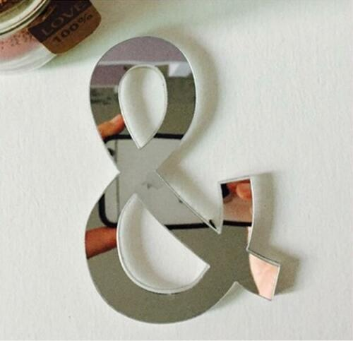 26 Letters DIY 3D Mirror Acrylic Wall Sticker Decals Home Decor Wall Art Mural