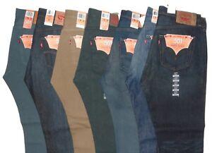 Levis-501-Original-Fit-Jeans-Button-Fly-Straight-Leg-36X32-Levi-039-s-Blue-Green-Tan