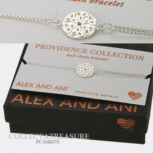Authentic Alex and Ani Providence Endless Knot ii Sterling Silver Chain Bracelet