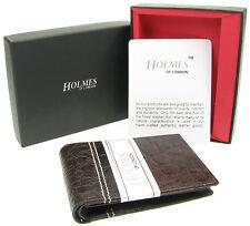 WALLET MENS BROWN FULL GRAIN GENUINE LEATHER CREDIT CARD HOLDER GIFT UKNEW BR804