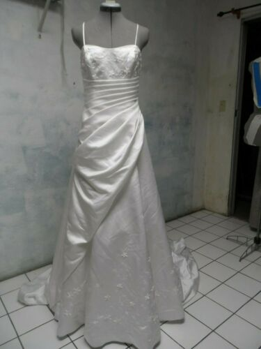 COSMOBELLA draped GRECIAN couture WEDDING DRESS sz