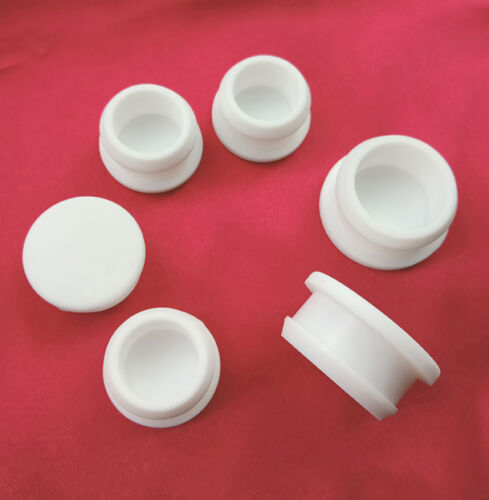 Snap-on Hole Plugs Silicone Rubber Blanking End Caps Pipe Tube Inserts White