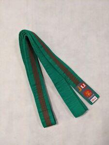 10 Stück Ju-Sports Budo-Gürtel grün/braun/grün - Länge 280 cm