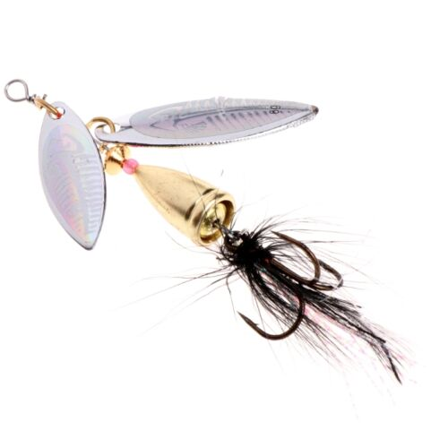 Metal Fishing Lure Sequins Spinner Spoon Baits Feather Fishhook Tackle 7.8cm 11g