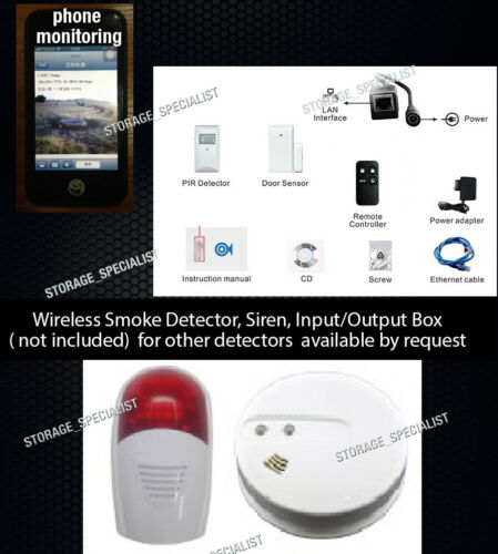 Wireless Security Camera 3G GSM House Alarm System PIR Remote Monitoring phone
